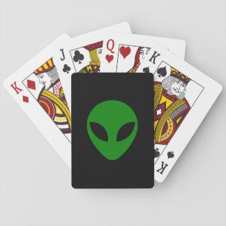 Cabeza extranjera verde cartas de juego