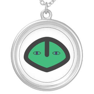 Cabeza extranjera verde del estilo colgante redondo
