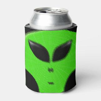 Cabeza extranjera verde enfriador de latas
