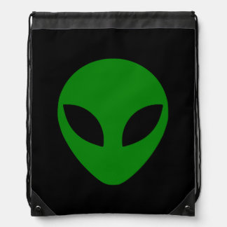 Cabeza extranjera verde mochilas