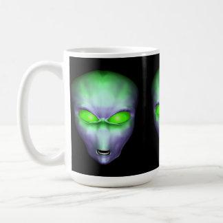 Cabeza extranjera verde tazas de café