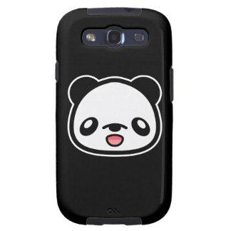 Cabeza feliz de la panda de Kawaii Galaxy SIII Cobertura