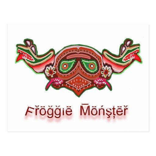 Cabeza feliz del Froggy - NOVINO MonstersInk Tarjetas Postales