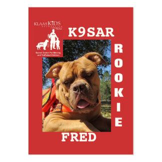 Cabeza-Fred, equipo K9 de la búsqueda de KlassKids Tarjetas De Visita Grandes