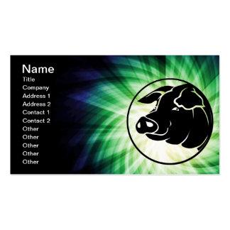 Cabeza fresca del cerdo plantillas de tarjetas personales