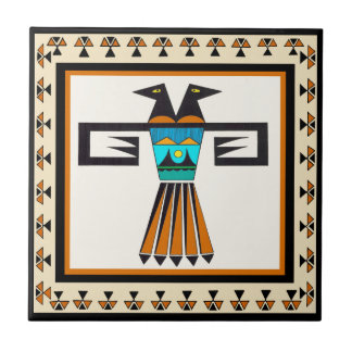 Cabeza gemela del pájaro del sudoeste azulejo cuadrado pequeño