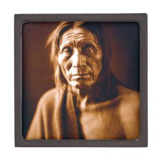 Cabeza grande (nativo americano) caja de recuerdo de calidad