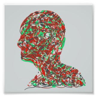 Cabeza humana atada con alambre fotografía