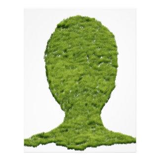 Cabeza humana formada hierba membretes personalizados