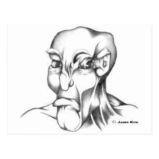 Cabeza humana: Gruñón - WB Tarjeta Postal