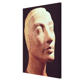 Cabeza inacabada de Nefertiti, nuevo reino Impresión En Lienzo