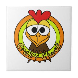 Cabeza loca del pollo de la tirada azulejo cuadrado pequeño