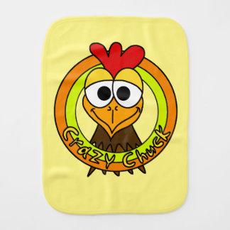 Cabeza loca del pollo de la tirada paños para bebé