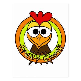 Cabeza loca del pollo de la tirada postal
