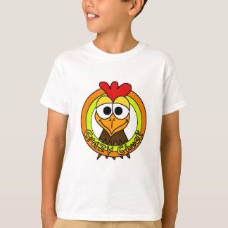 Cabeza loca del pollo de la tirada remeras