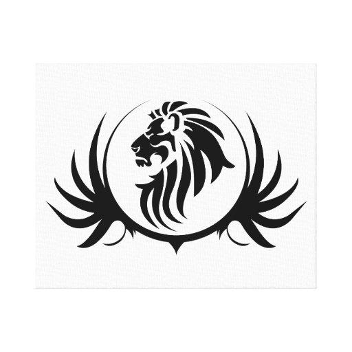 Cabeza majestuosa del león impresion de lienzo