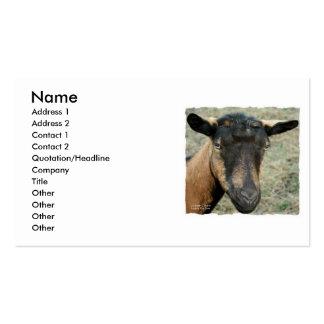Cabeza marrón de la cabra de Oberhasli tirada en c Tarjeta De Visita