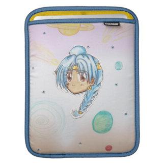 Cabeza Miko de Chibi (con el fondo del collage) Mangas De iPad