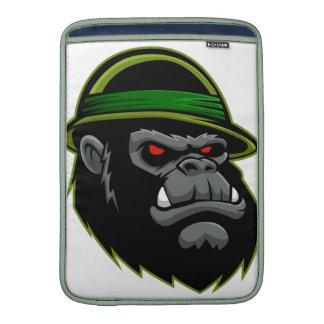 Cabeza militar del gorila fundas para macbook air