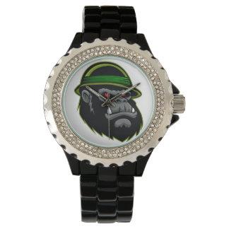 Cabeza militar del gorila relojes de pulsera