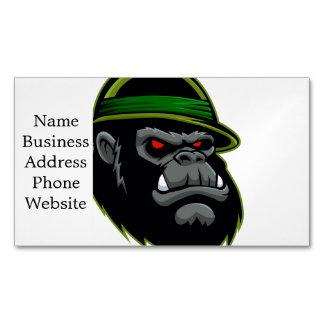 Cabeza militar del gorila tarjetas de visita magnéticas (paquete de 25)