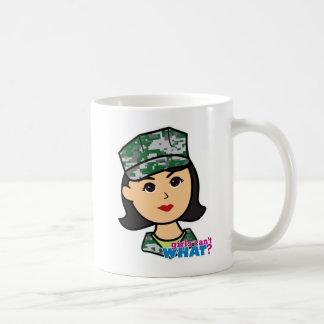 Cabeza militar media de Camo del chica Taza Clásica