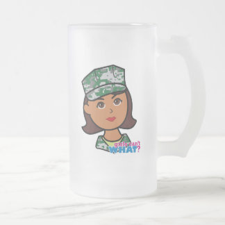 Cabeza militar oscura de Camo del chica Taza De Cristal