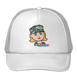 Cabeza militar rubia de Camo del chica Gorra