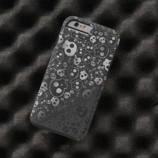 cabeza negra blanca del cráneo funda de iPhone 6 tough