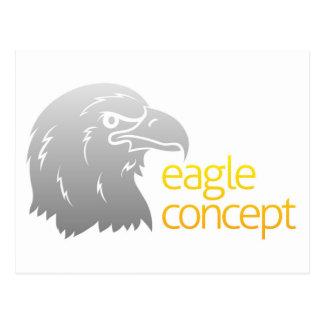 Cabeza orgullosa de las águilas tarjetas postales