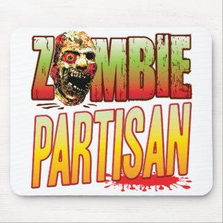 Cabeza parcial del zombi alfombrillas de raton