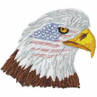 Cabeza patriótica de Eagle de la bandera americana