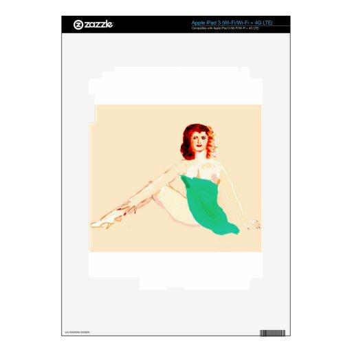 Cabeza perno-para arriba-Roja iPad 3 Pegatina Skin