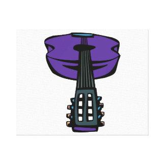 cabeza purple.png de la guitarra acústica impresiones en lona