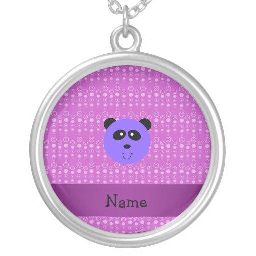 Cabeza púrpura conocida personalizada de la panda collar