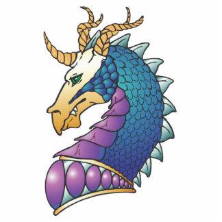 cabeza real del dragón fotoescultura vertical