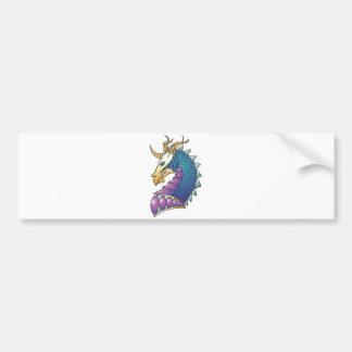 cabeza real del dragón pegatina de parachoque