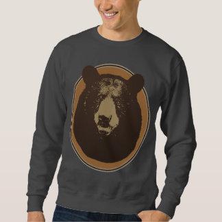 Cabeza rellena del oso de Brown en la pared Sudadera