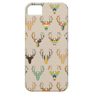 cabeza retra de los ciervos en el lino iPhone 5 carcasa