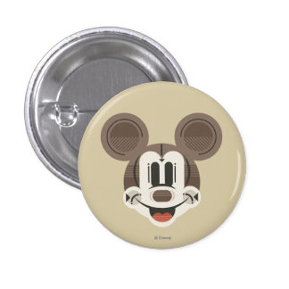 Cabeza retra de Mickey Mouse de las rayas Pin