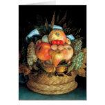 Cabeza reversible con la cesta de la fruta 1590 -  felicitaciones