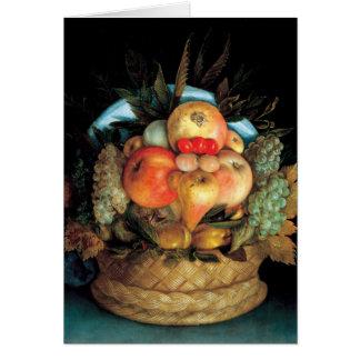Cabeza reversible con la cesta de la fruta 1590 - tarjeta de felicitación