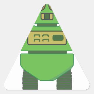 cabeza robot.png del casco 201301_0001 pegatina triangular