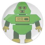 cabeza robot.png del casco 201301_0001 plato para fiesta