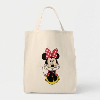 Cabeza roja de Minnie el | en manos Bolsa Tela Para La Compra
