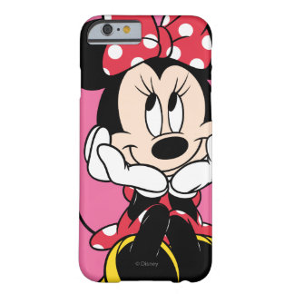 Cabeza roja de Minnie el | en manos Funda De iPhone 6 Barely There