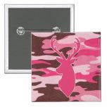 Cabeza rosada de los ciervos del camo pins