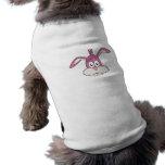 Cabeza rosada del conejo camisa de perro