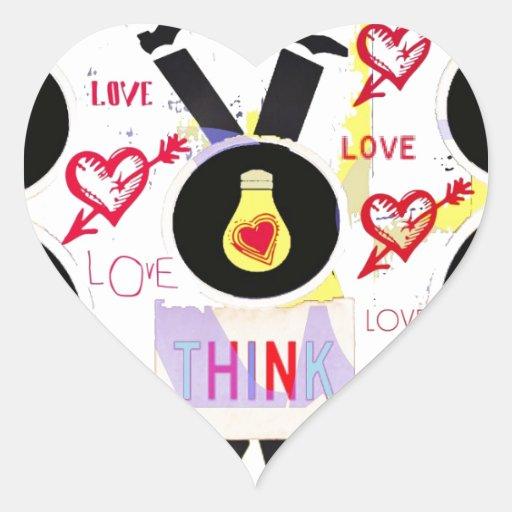 cabeza sobre tarjeta del día de San Valentín de Pegatina De Corazon Personalizadas