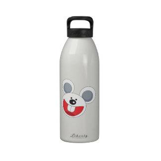 Cabeza sonriente del conejo de conejito botella de agua